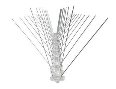 RVS Duivenpinnen met Kunststof basis (Type AGS-01) per doos a 50 meter