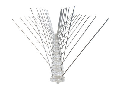 RVS Duivenpinnen met Kunststof basis (Type AGS-01) per stuk a 50cm
